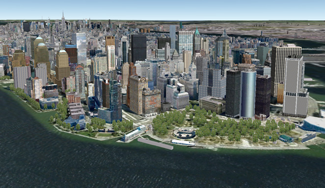 google earth NY 3D